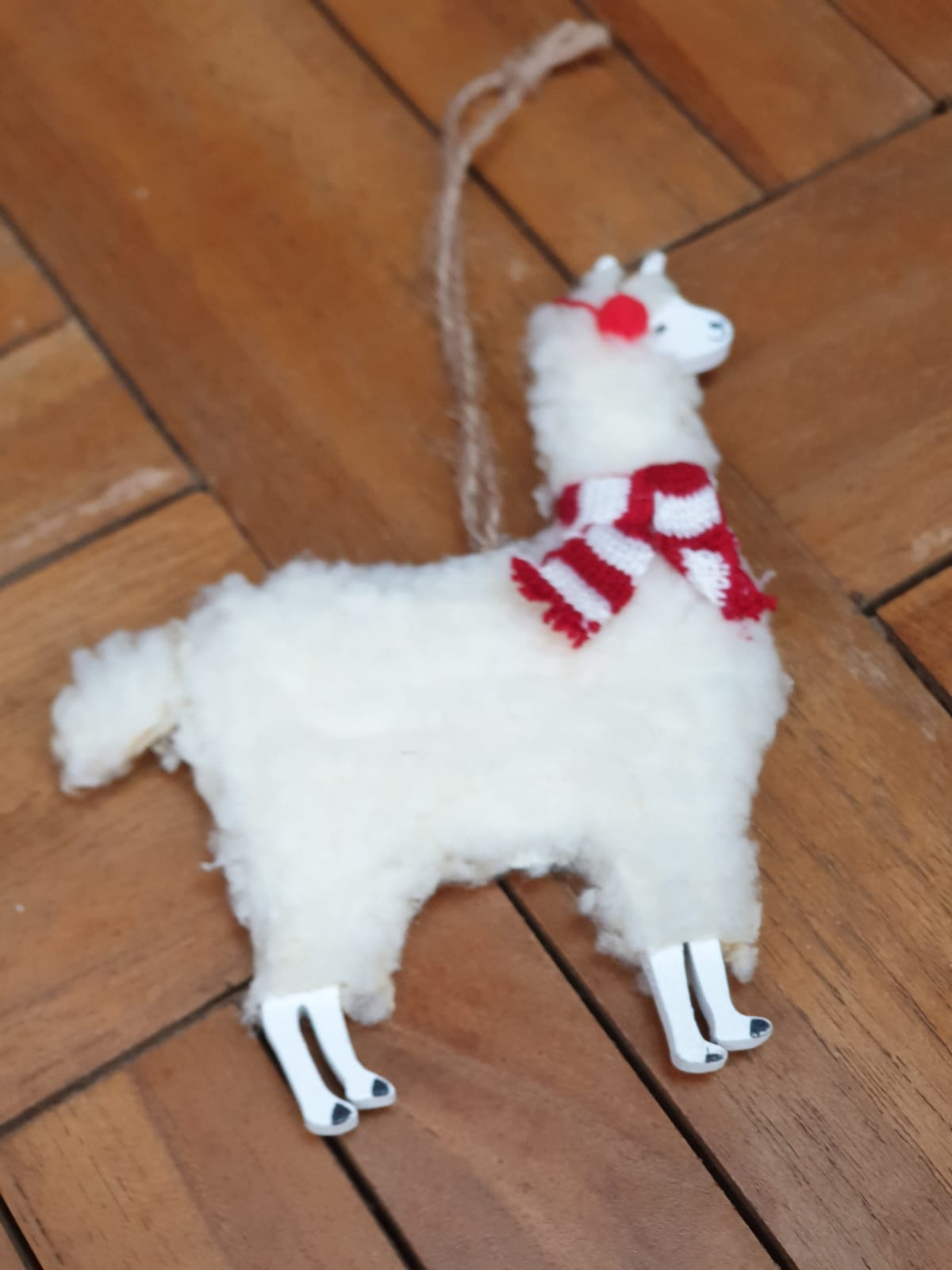 Alpaca Xmas Decoration Wooden