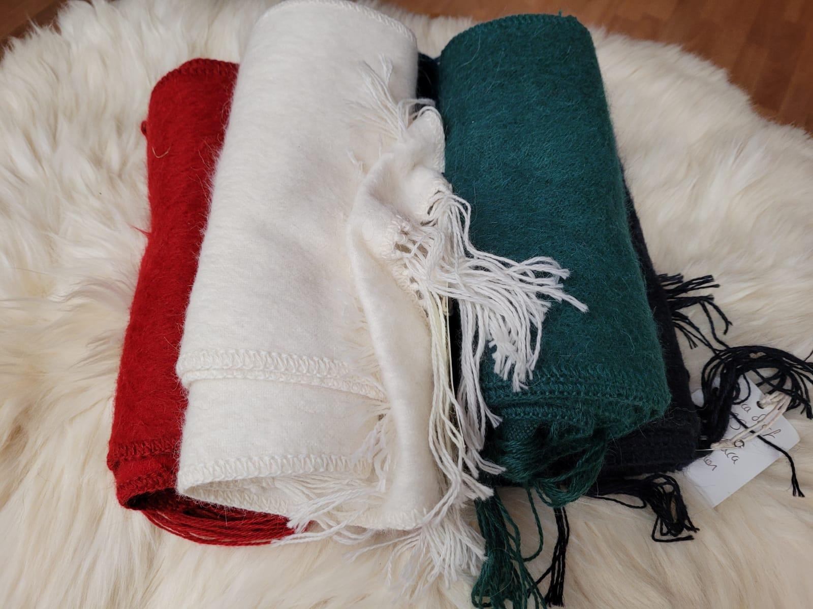 Alpaca brushed scarf
