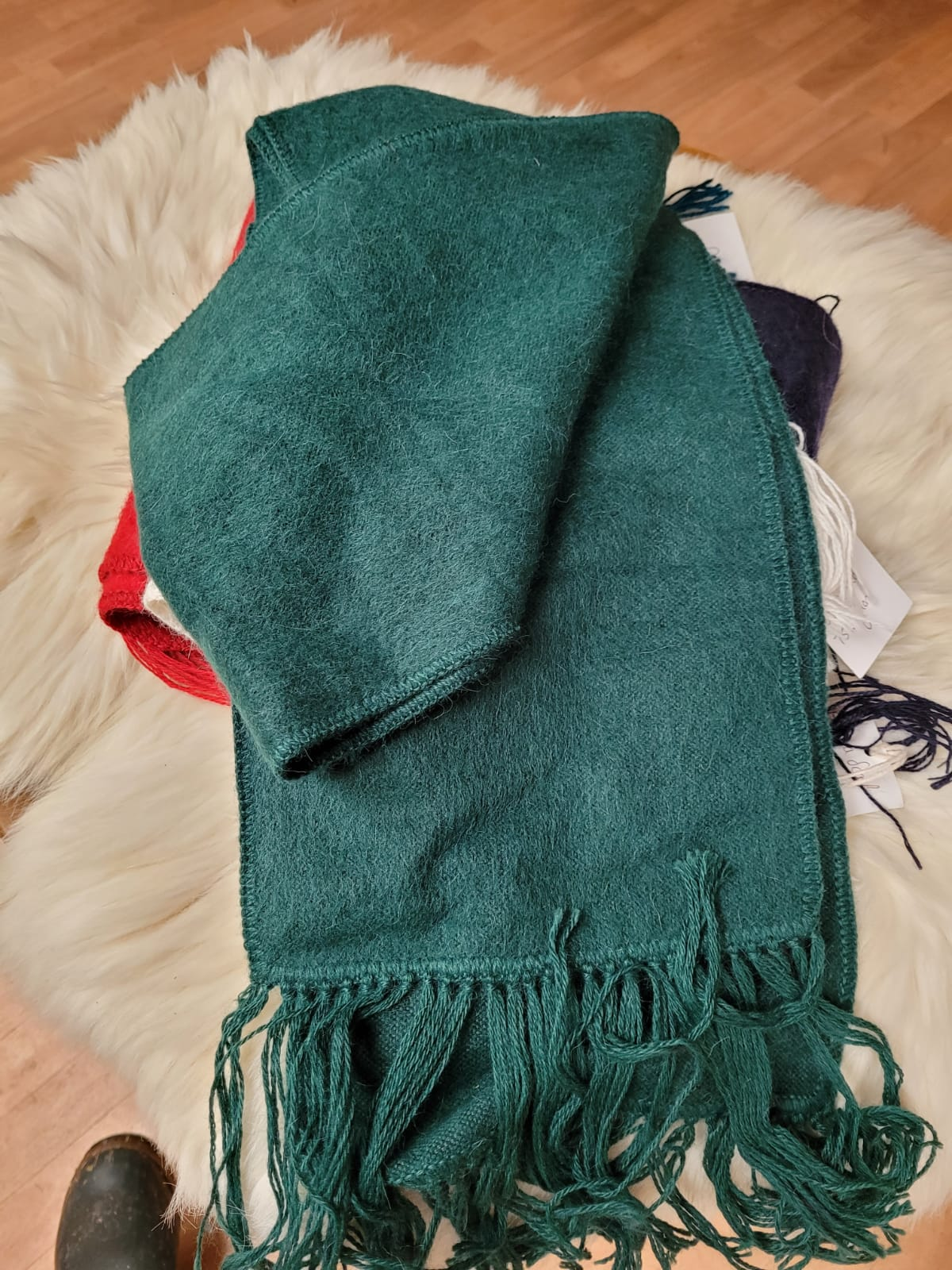 Alpaca brushed scarf